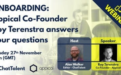 The ChatTalent & Appical webinar series – Appical Co-Founder Roy Terenstra answers your onboarding questions