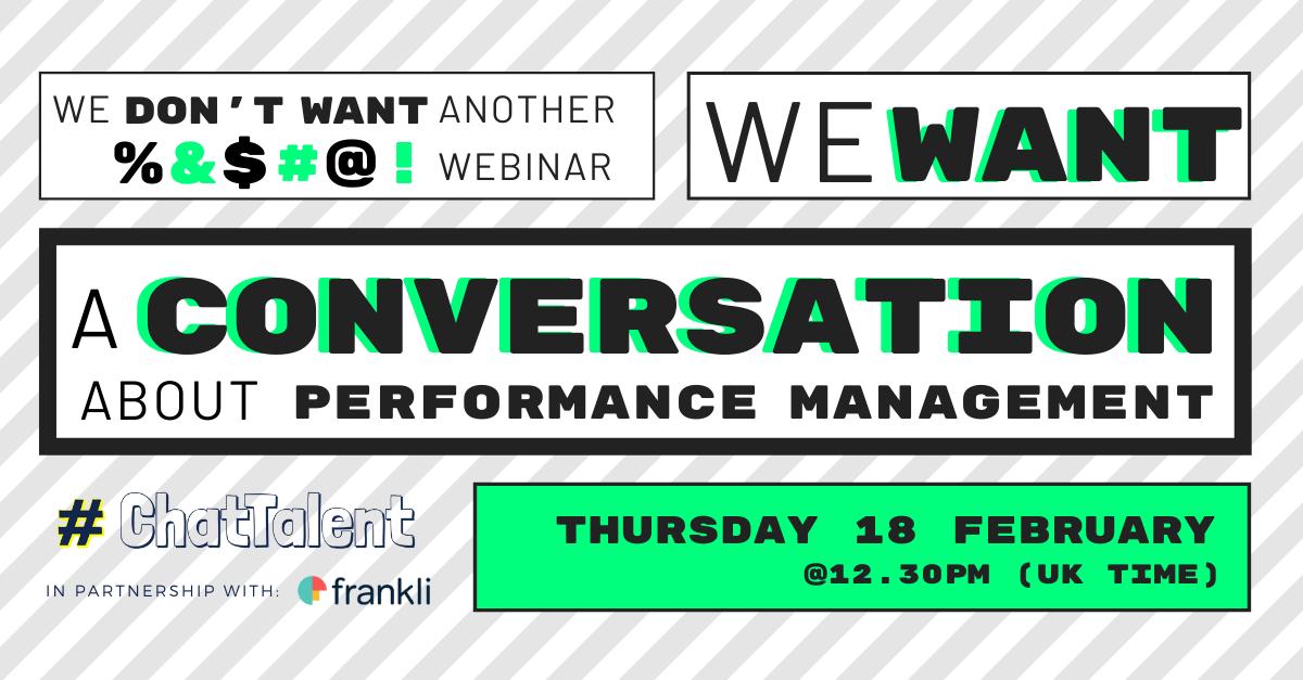 A conversation about Performance Management
